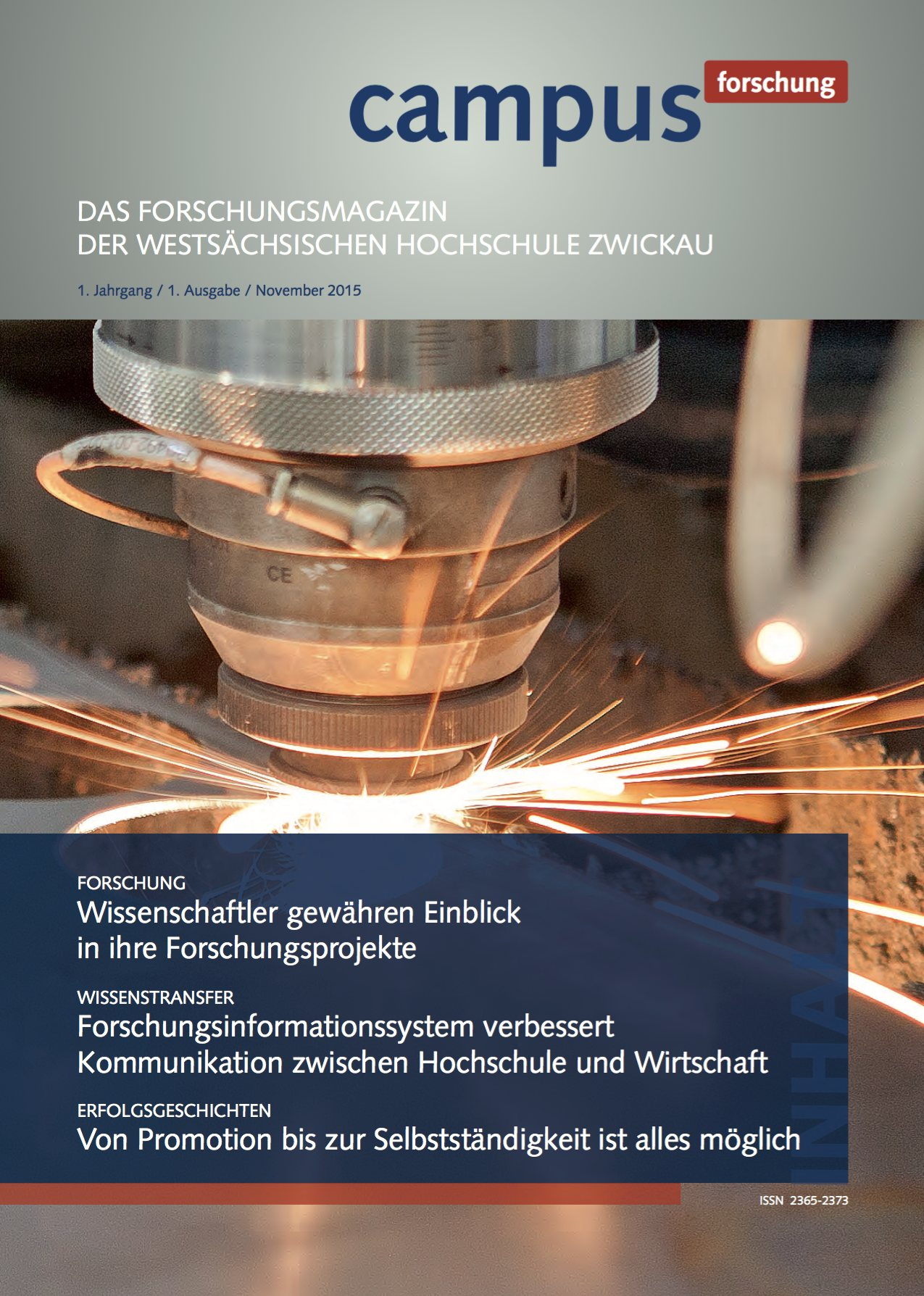 Cover vom Forschungsmagazin Campus forschung 2015