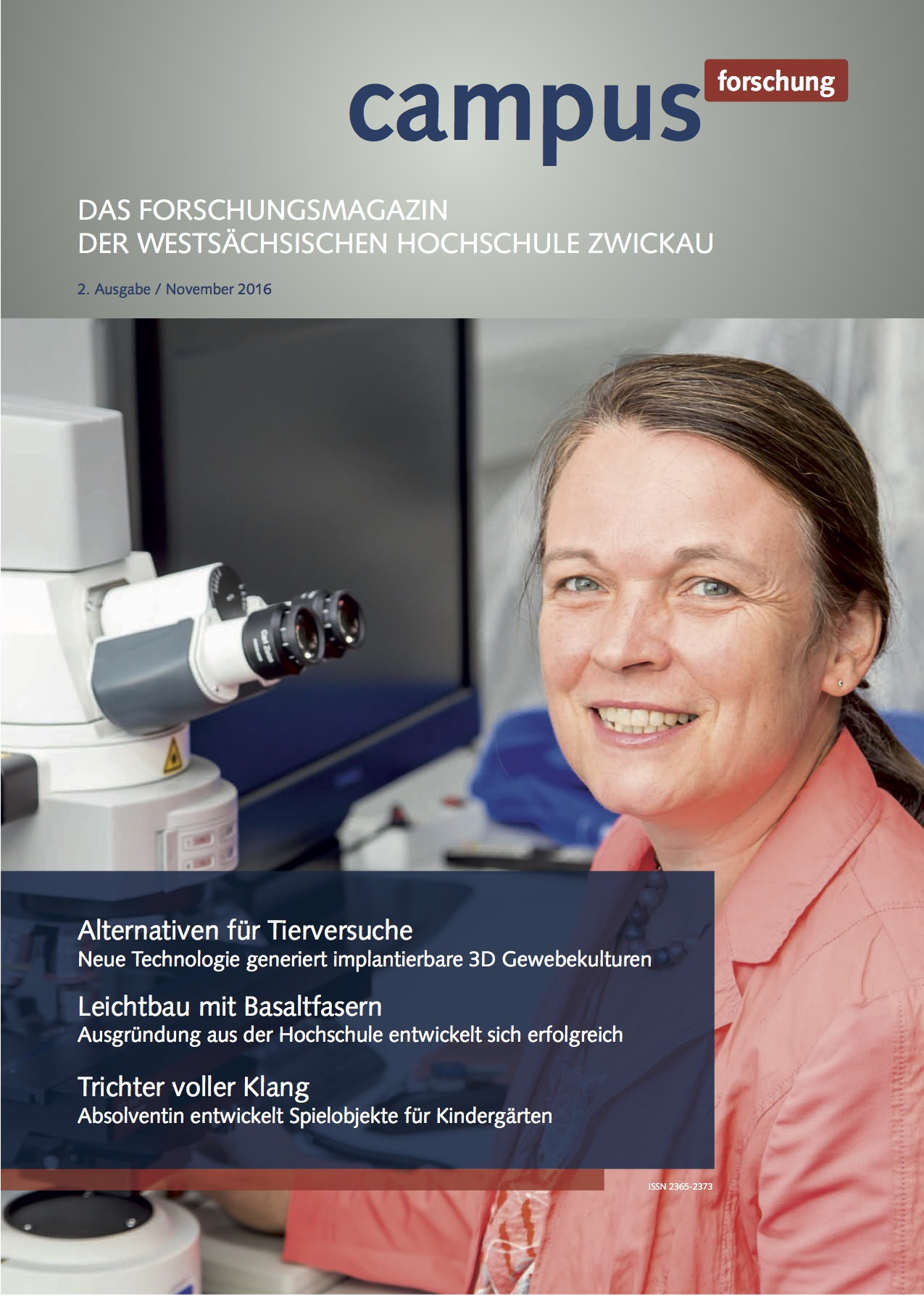 Cover vom Forschungsmagazin Campus forschung 2016