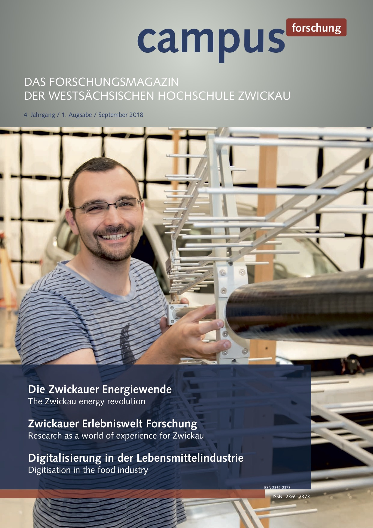 Cover vom Forschungsmagazin Campus forschung 2018